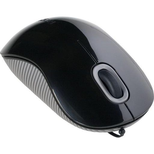 MOUSE TARGUS RECTATIL | Mouse Targus color negro con conexión USB  Cable 76cm.