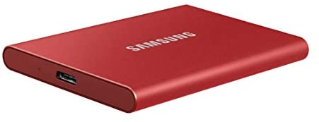 Disco Duro externo Samsung 500GB T7  SSD Red
