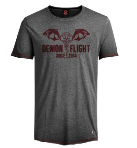 Flug der Dämonen Herren T- Shirt grau - Oil washed -