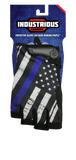 Blue Line Flag Gloves (1/2 Finger)