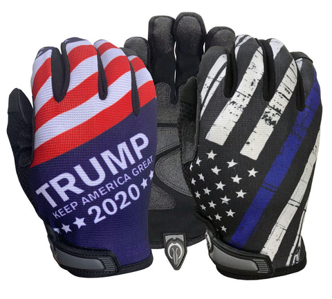 Trump/Blue Line Flag Combo Pack