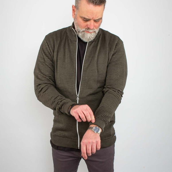 Bart Zip Cardigan