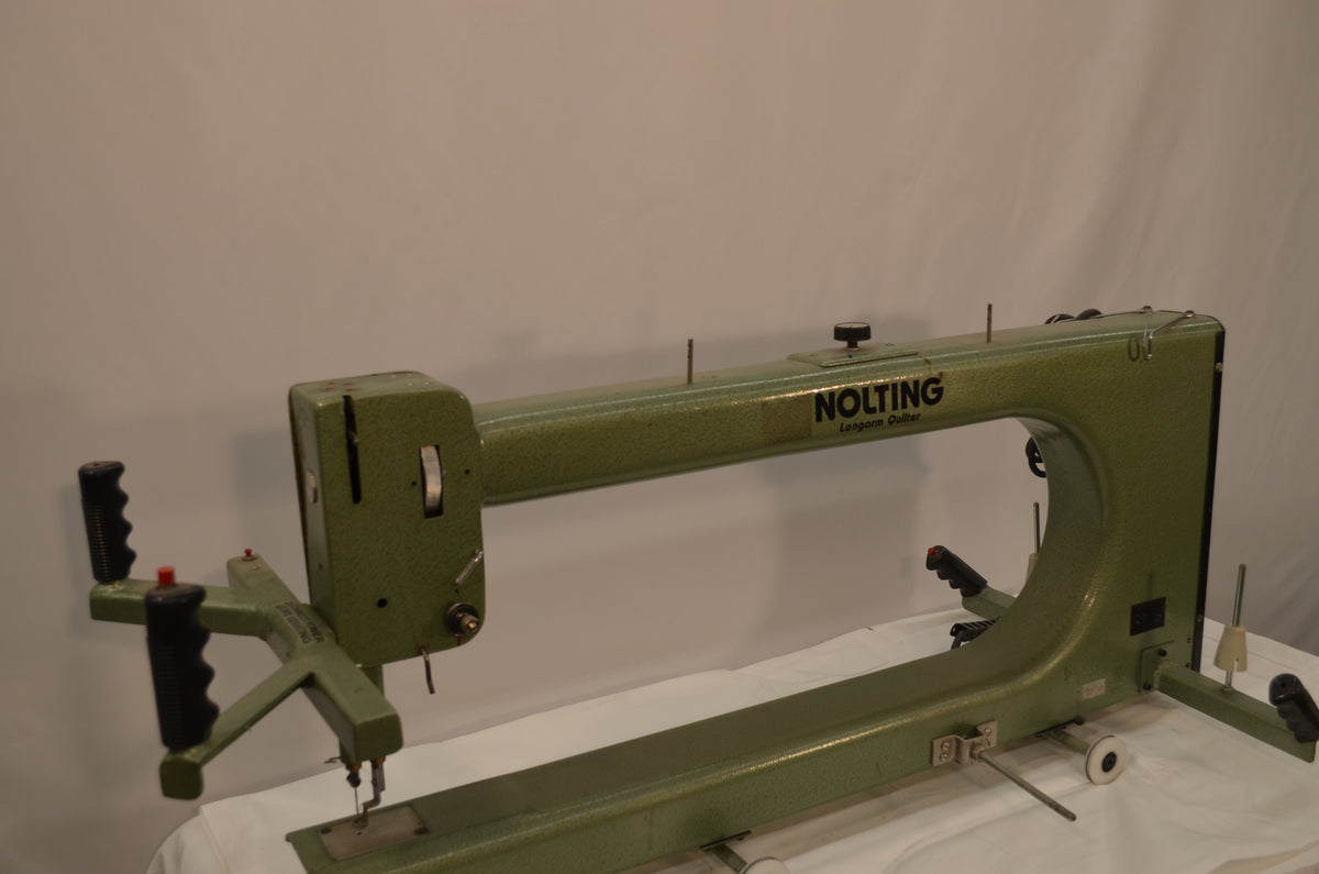 "1991 Nolting 30"" Standard (Green) L Bobbin with Wood Top Frame"