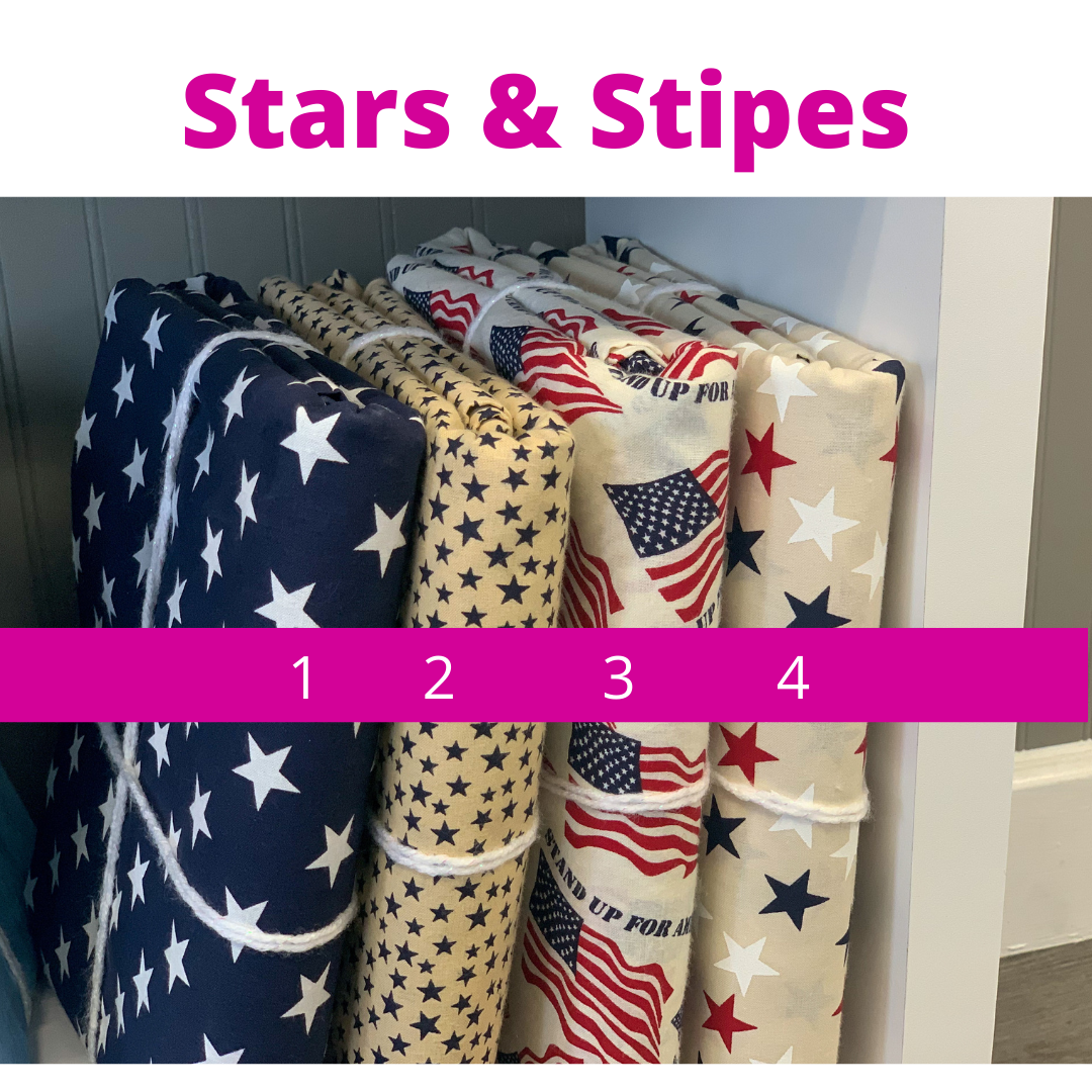 "108"" Quilt Backing Fabric - Stars & Stripes"