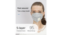 2-Pack KN95 Folding Mask Anti-dust Respirator Face Mask