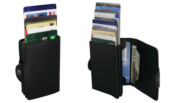 RFID-Blocking Cascading Quick Card Wallet