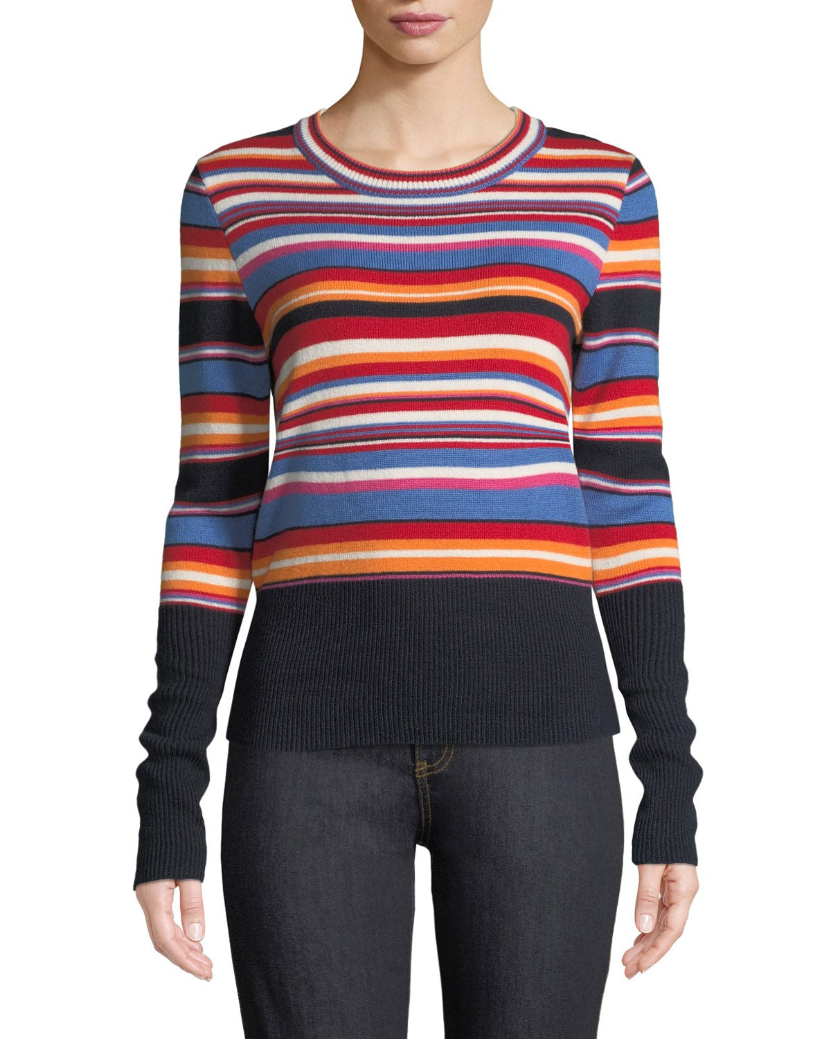 Tory Burch Kit Striped Sweater