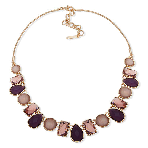 "Nine West Stone Collar Necklace, 16"" + 2"" extender"