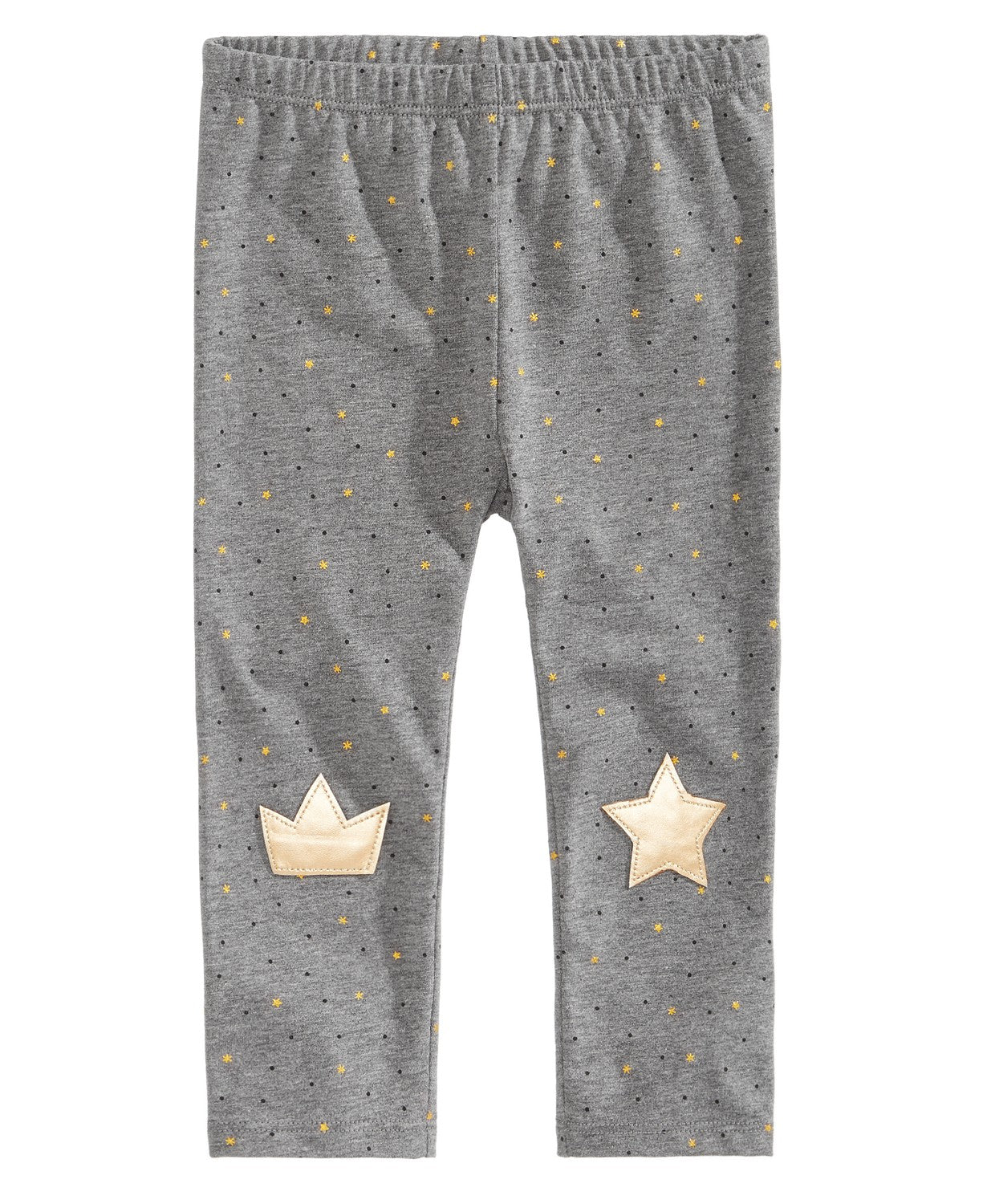 First Impressions Baby Girls Star-Print Knee-Patch Leggings,