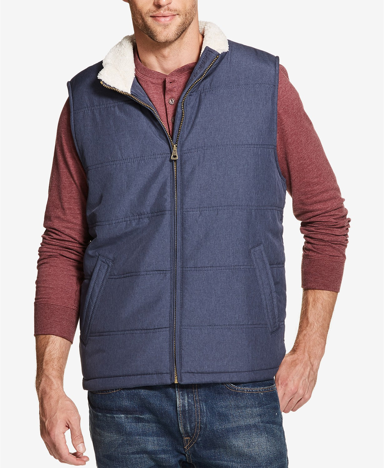 Weatherproof Vintage Men's Quilted Fleece-Lined Vest