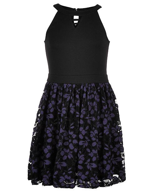 Epic Threads Big Girls Ponte-Knit Lace Dress