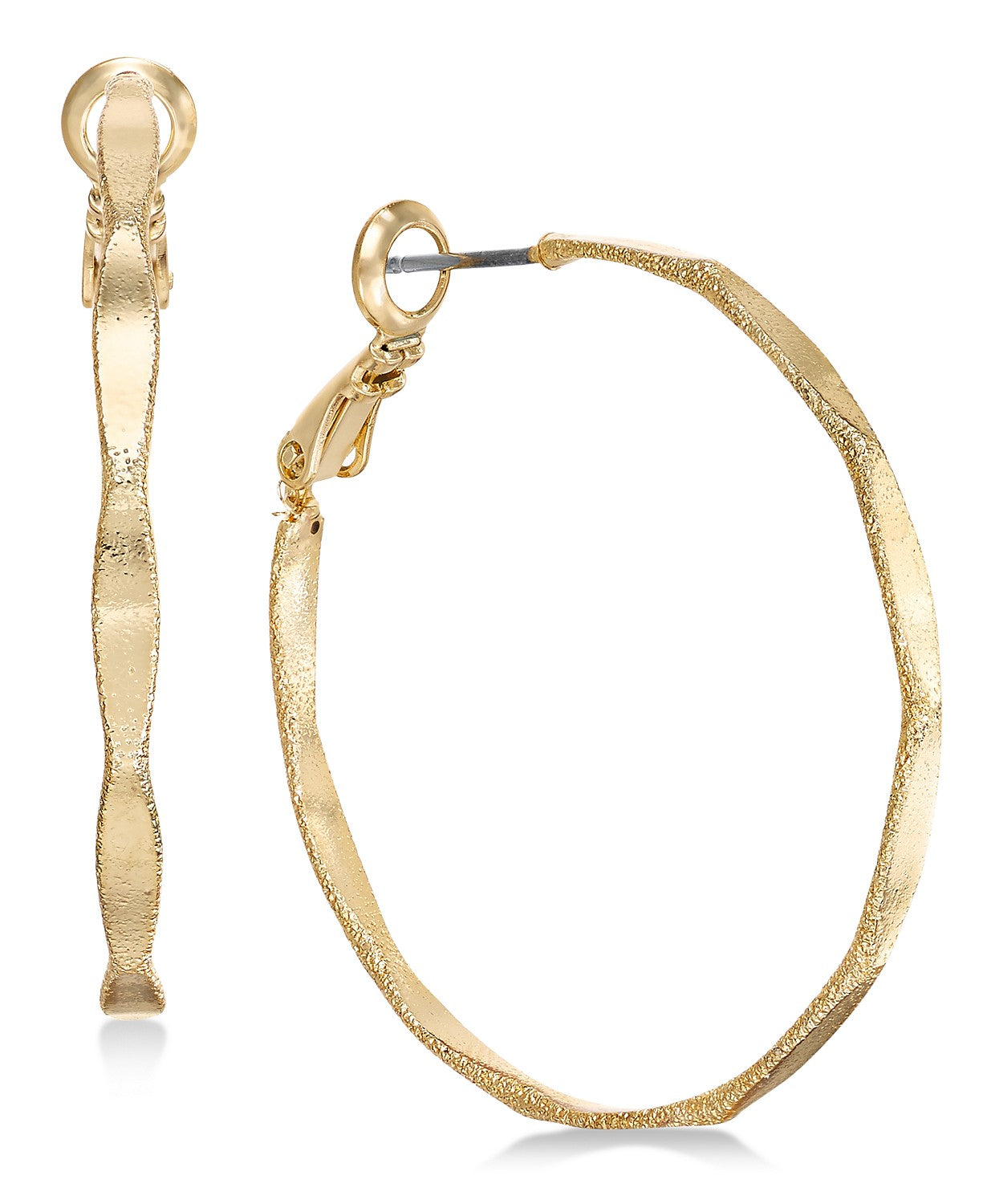 Charter Club Gold-Tone Thin Hoop Earrings Gold