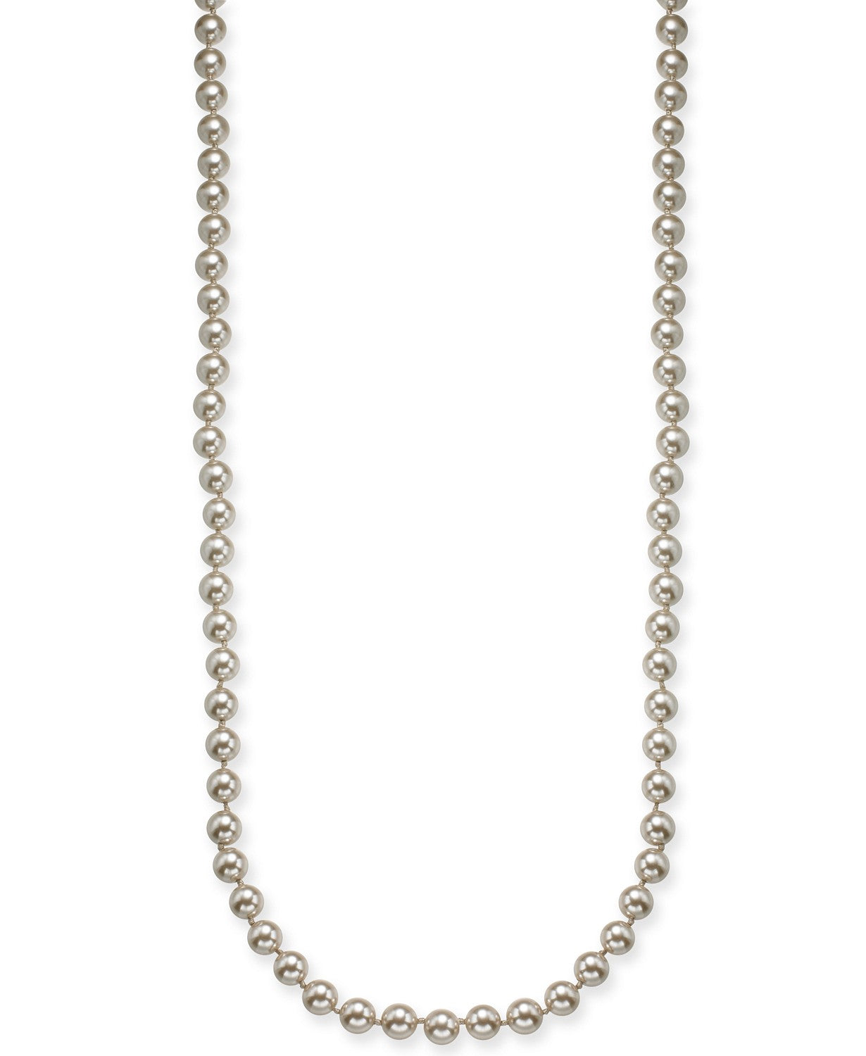 "Charter Club Silver-Tone Imitation Pearl Necklace, 42"" + 2"""