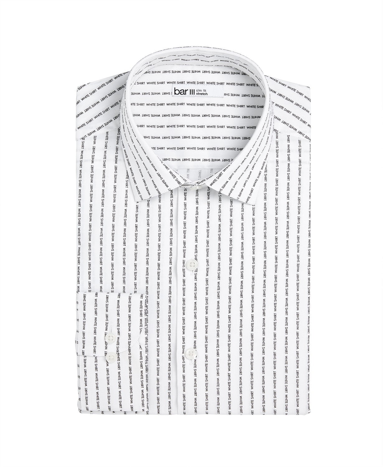 Bar Iii Men's Slim-Fit Stretch Text Stripe Dress Shirt