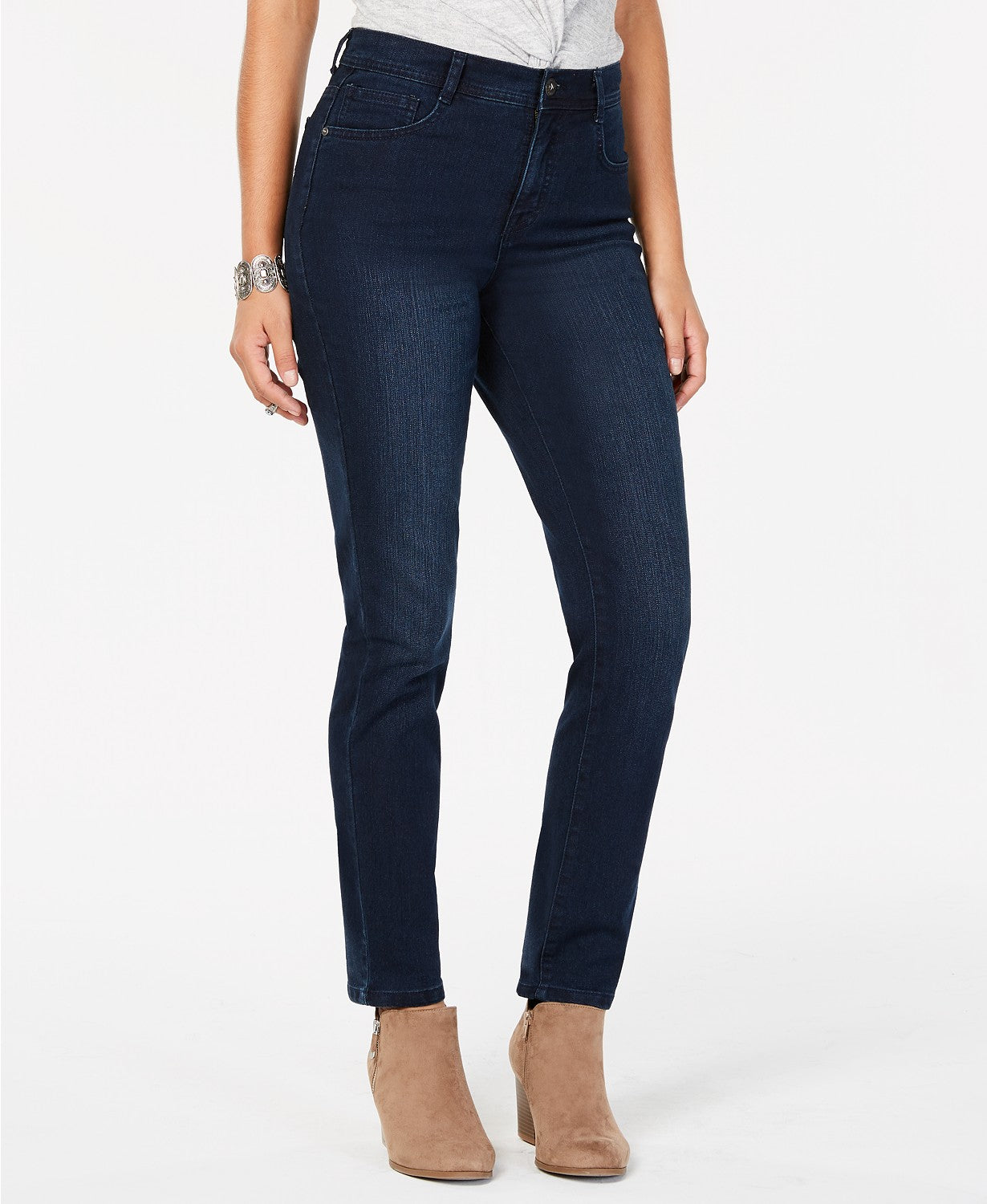 Style & Co. Womens High Rise Tummy Slimming Slim Leg Jeans