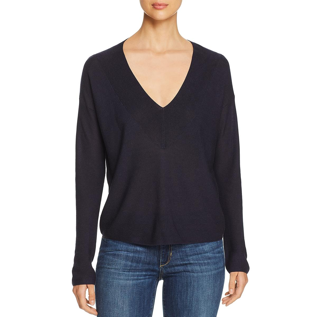 Eileen Fisher Womens Silk Knit V-Neck Sweater