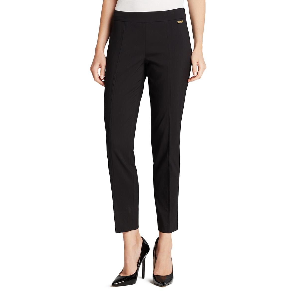Tory Burch Womens Callie Woven Flat Front Dress Pants