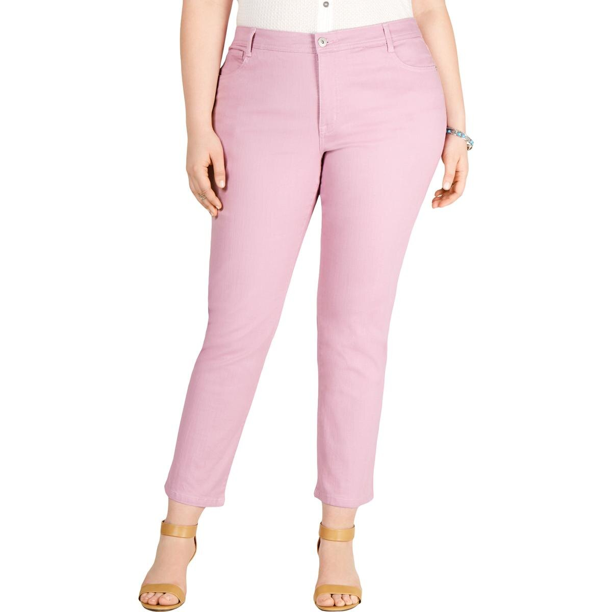 Style & Co. Womens Plus Slim Fit Tummy Control Slim Leg Jeans