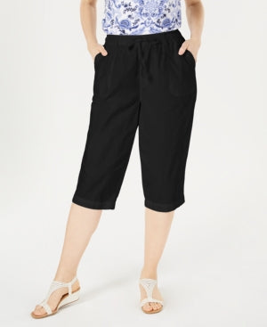 Karen Scott Cotton Cropped Pants