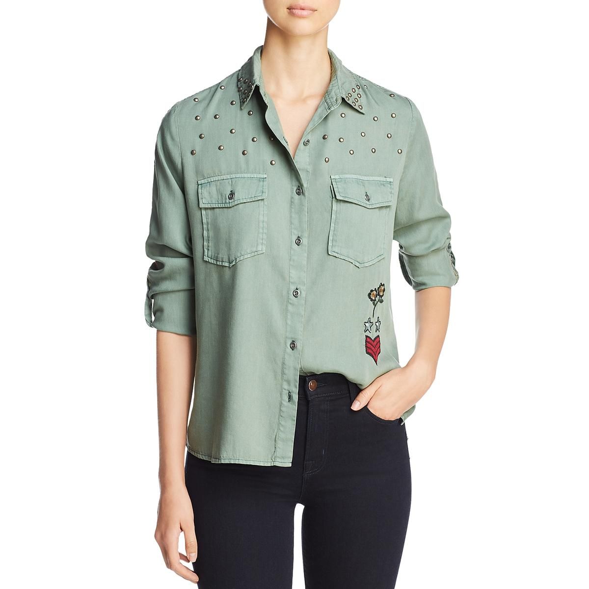 Billy T Womens Embroidred Long Sleeves Blouse