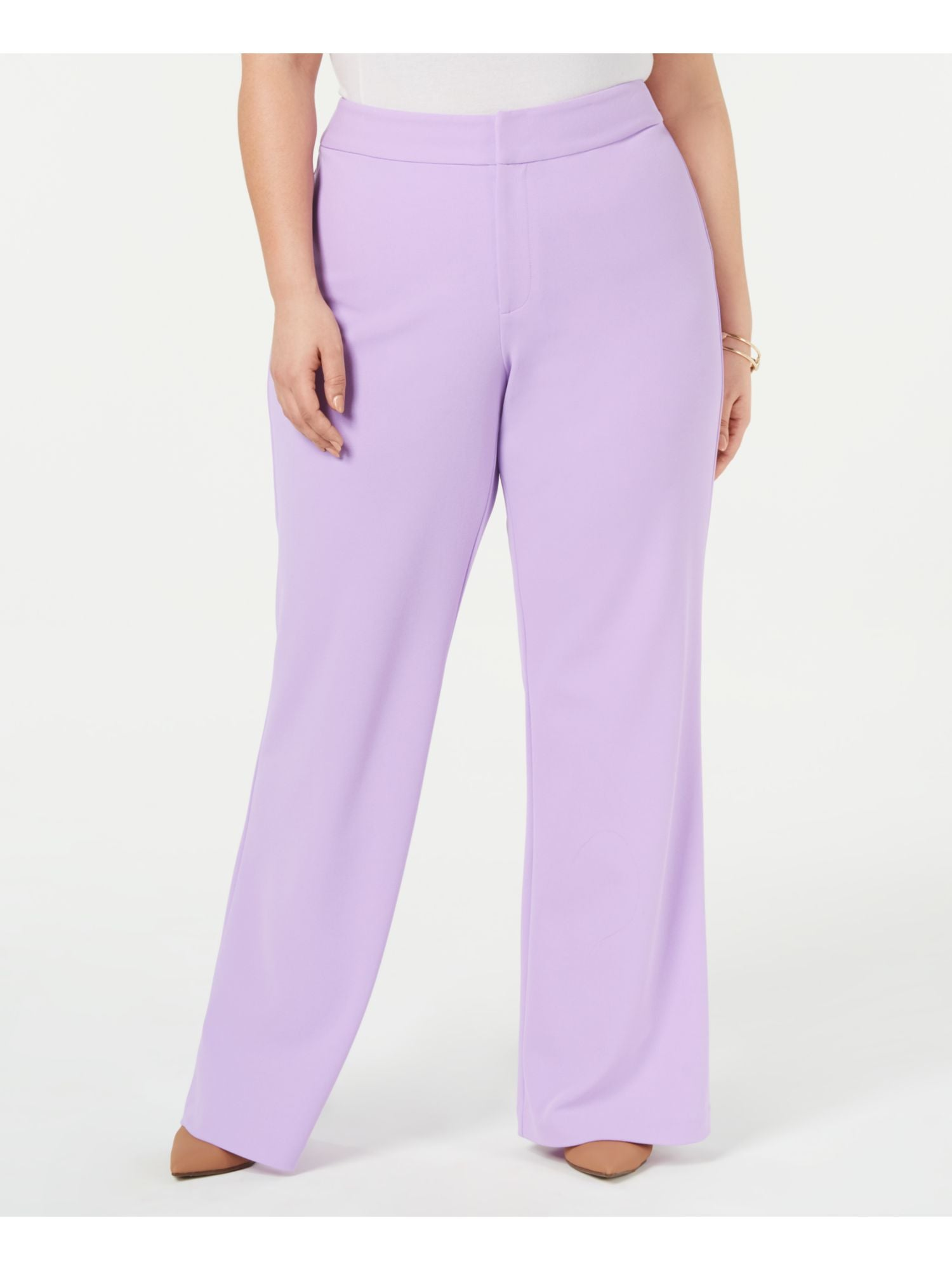 INC Womens Plus Monochromatic Wide Leg Pants
