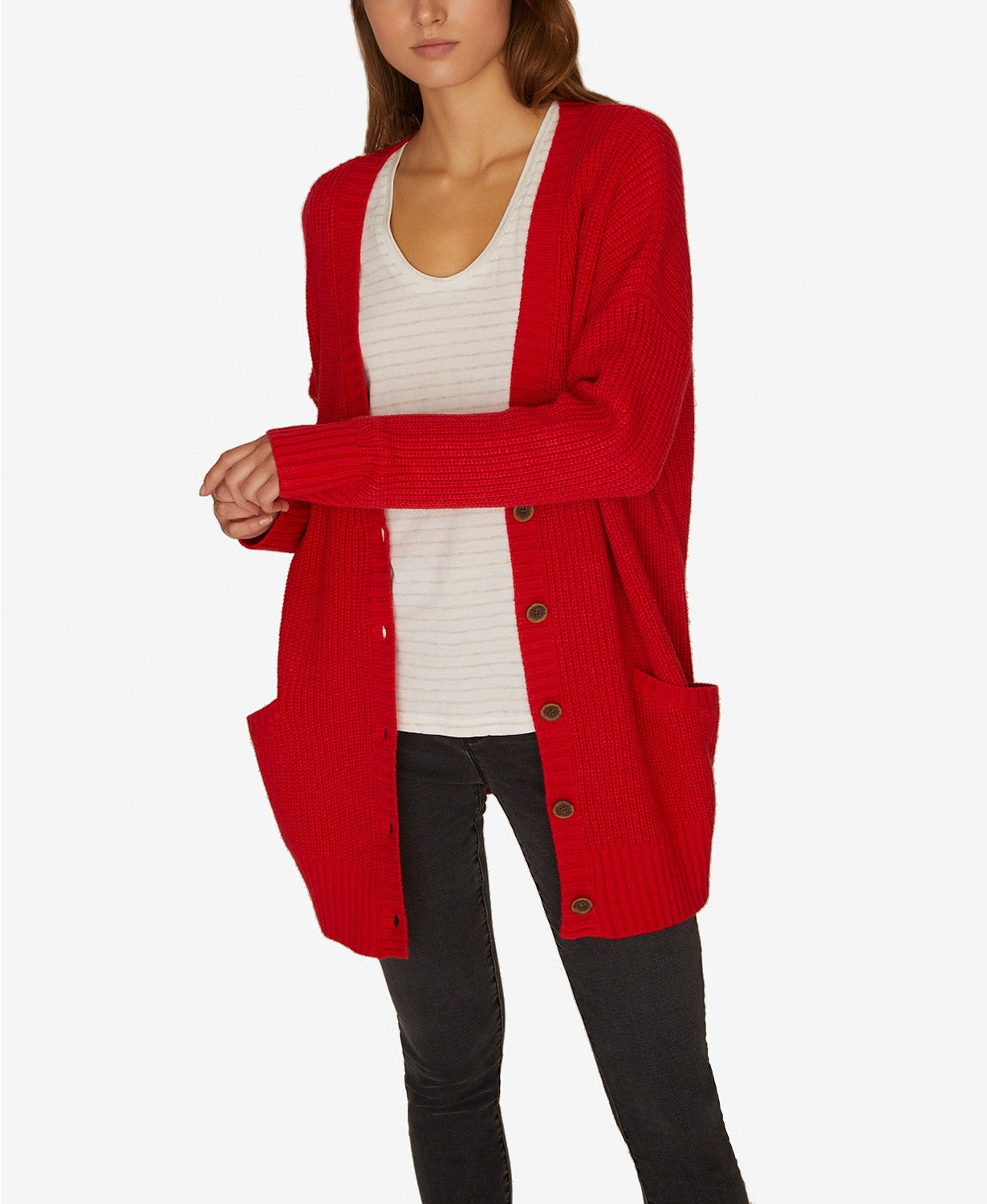 Sanctuary Womens Long MIDI Cardigan Sweater