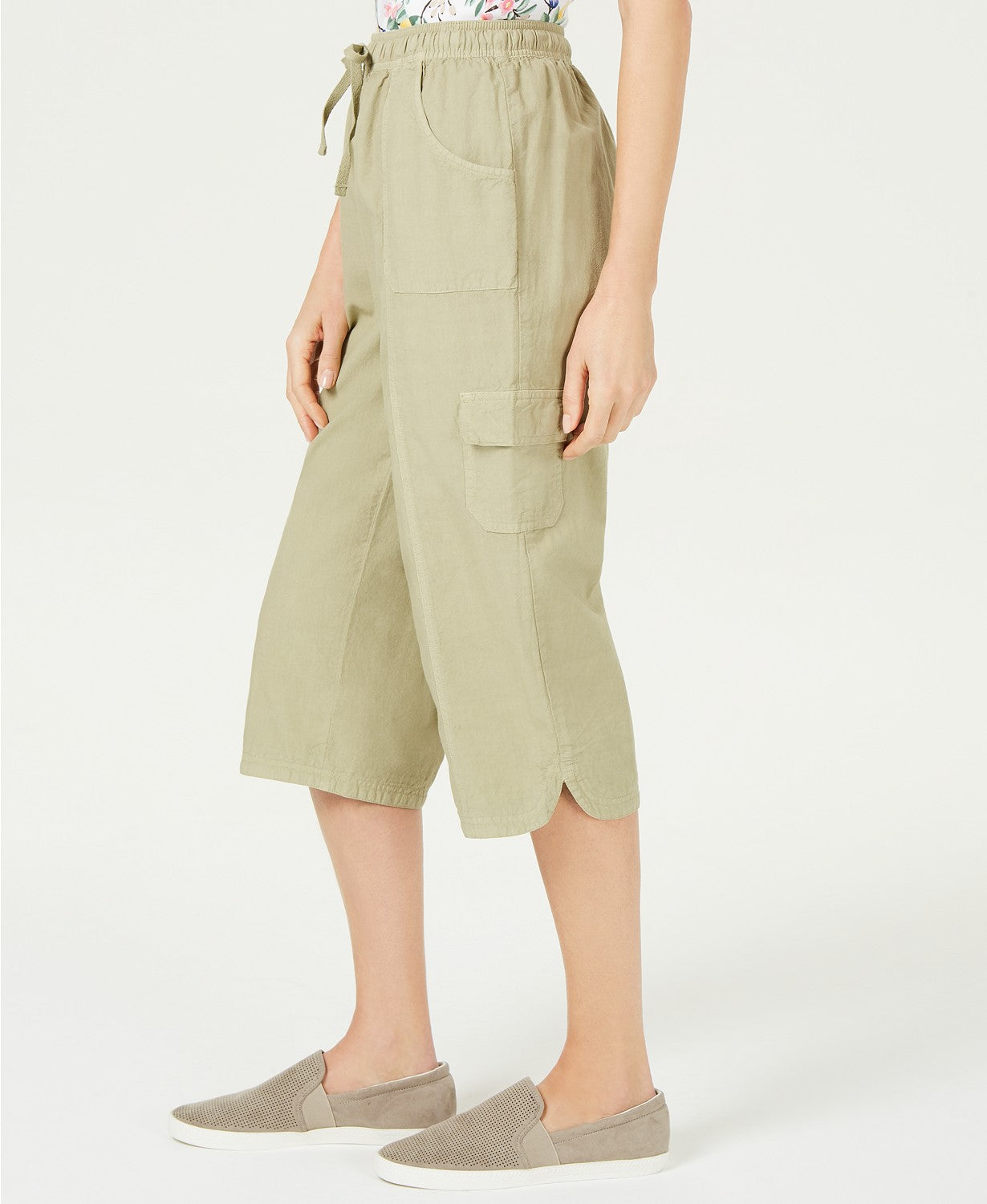 KAREN SCOTT Womens Green Pants