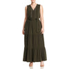 Michael Kors Womens Plus Chain Lace-up Maxi Dress