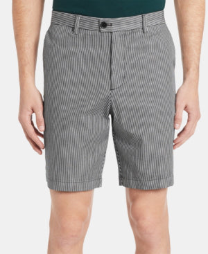 Calvin Klein Men's Classic-Fit Performance Stretch Yarn-Dyed Stripe 9 Shorts