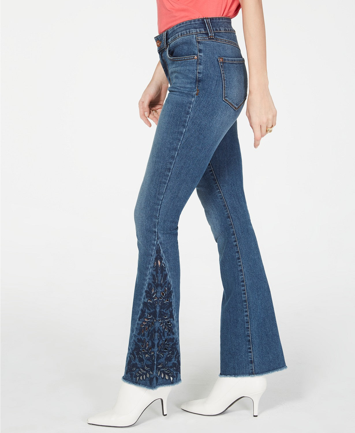I.N.C. Embroidered Boot-Cut Jeans