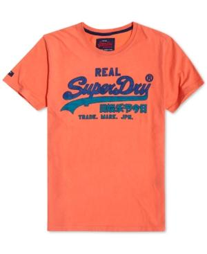 Superdry Men's Vintage Inspired Logo T-Shirt - Orange
