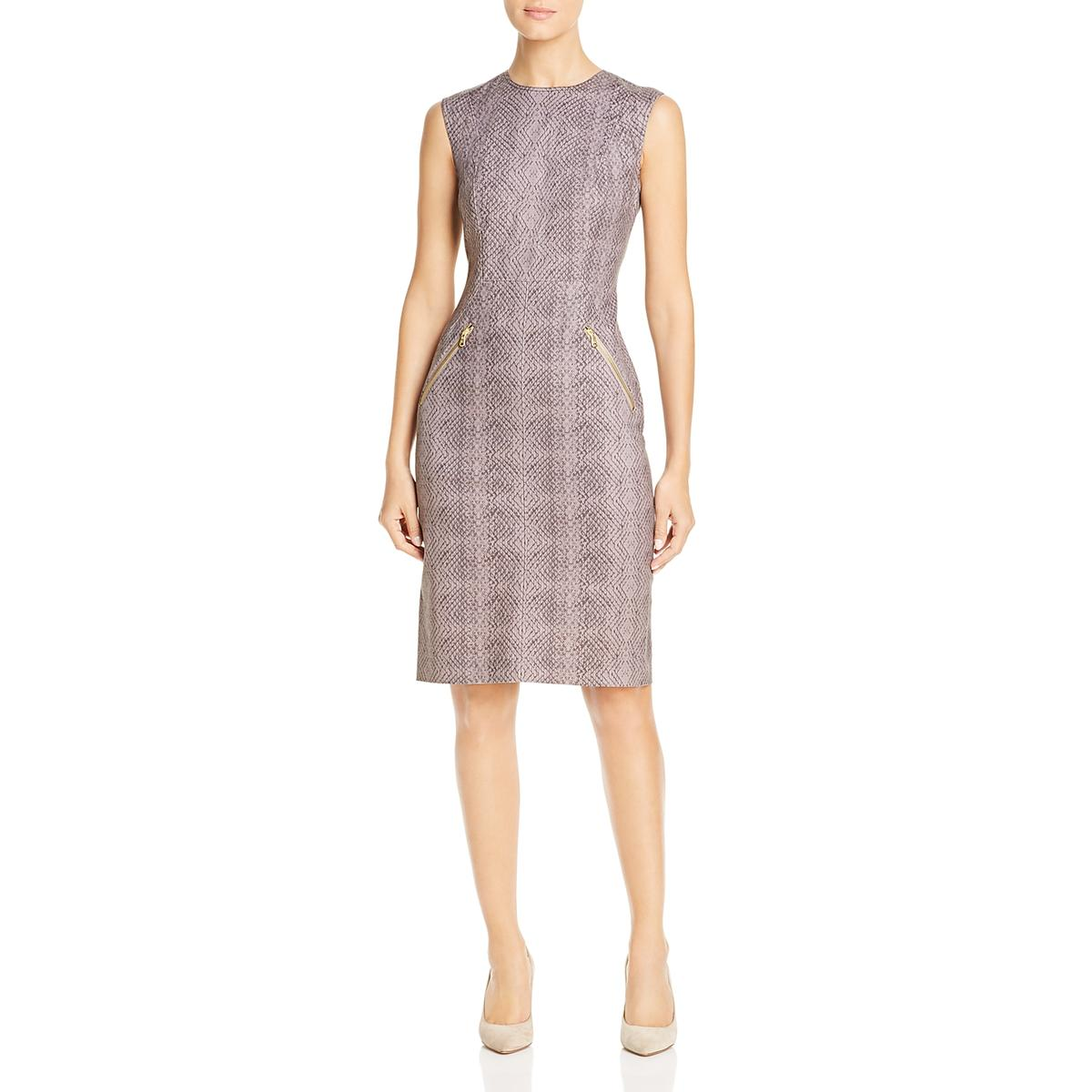 Donna Karan Womens Office Sleeveless Sheath Dress