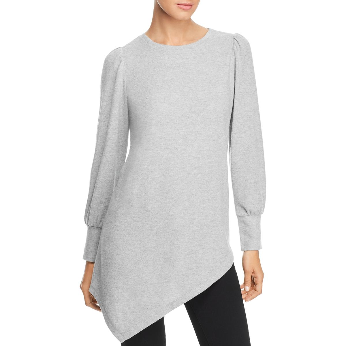 Vince Camuto Womens Asymmetric Long Sleeves Top