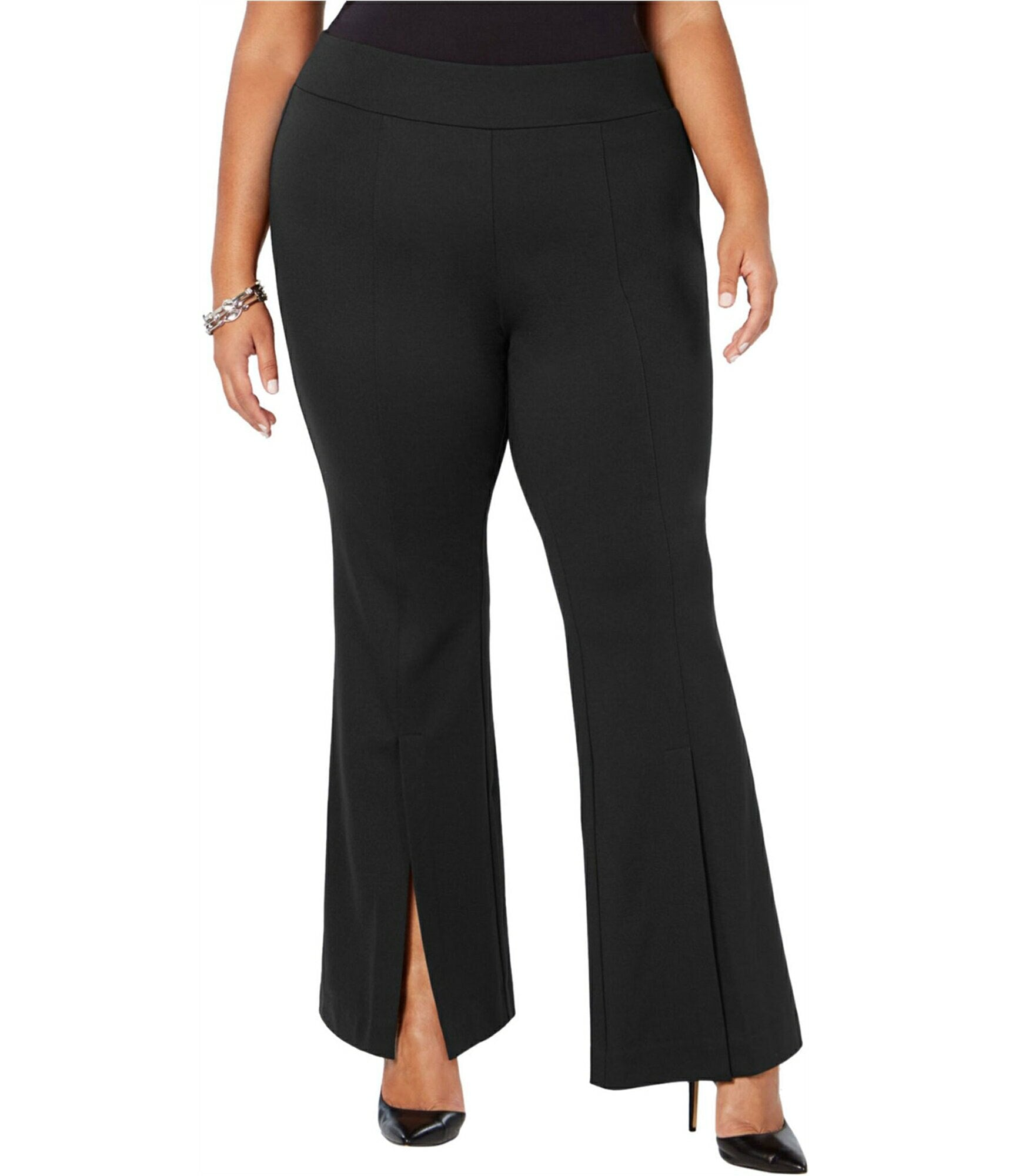 I-N-C Womens Slit Front Casual Trouser Pants