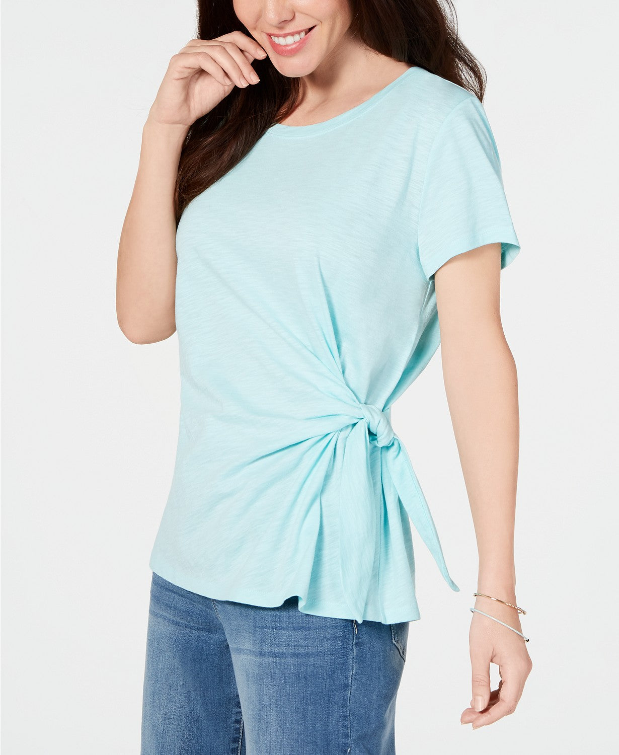 Style & Co Side-Tie Top