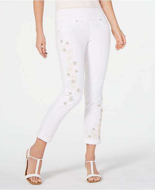 Style & Co Embellished Boyfriend Jeans