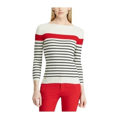 Ralph Lauren Cotton-Blend Boat Neck Sweater