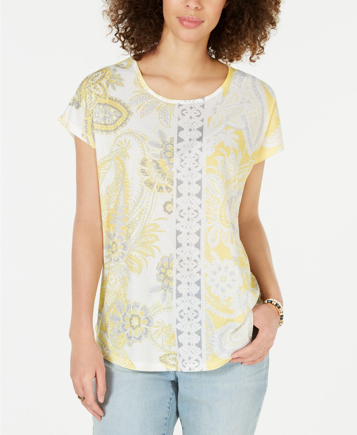Style & Co Sublimated Printed Top