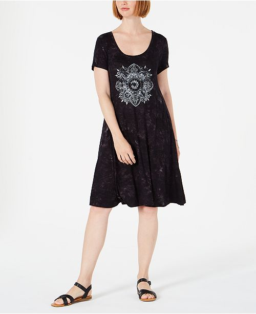 Style & Co Graphic T-Shirt Dress