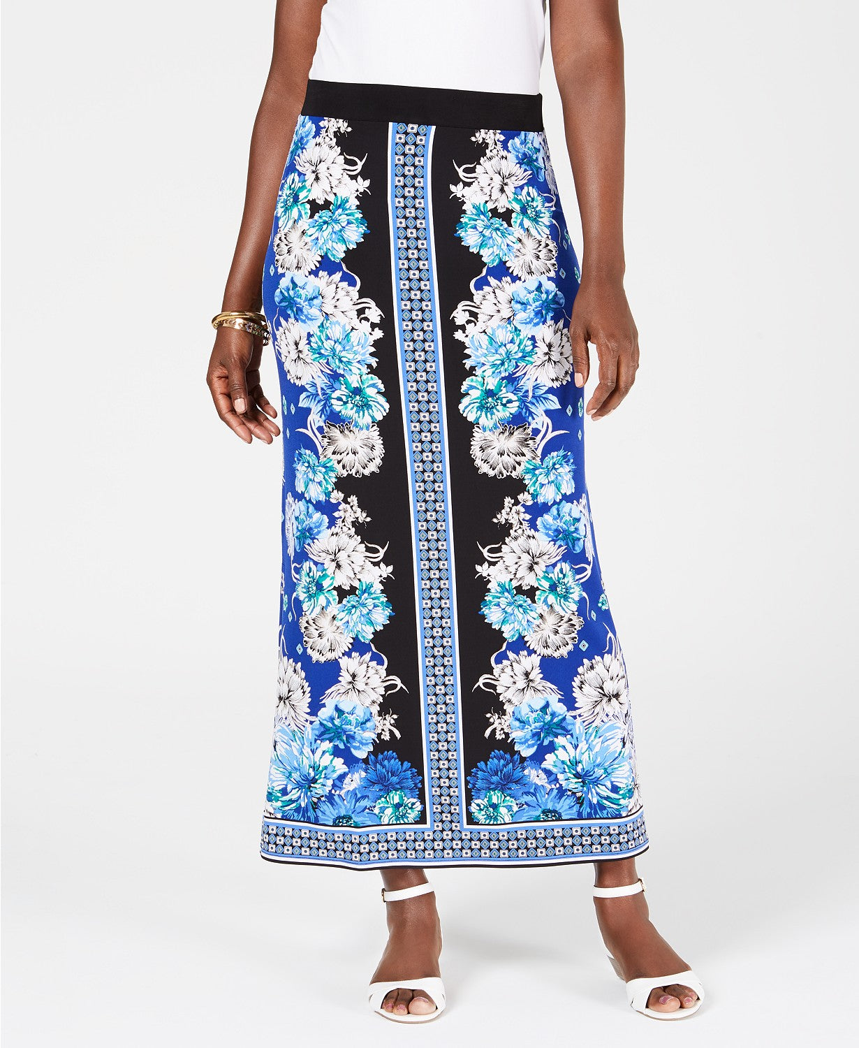 JM Collection Printed Maxi Skirt