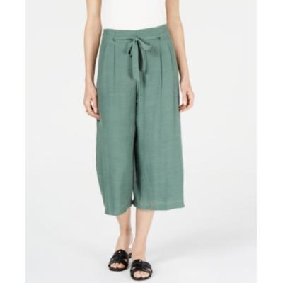 Jm Collection Tie-Front Textured Capri Pants