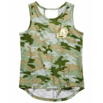 Epic Threads Big Girls Camo-Print Tie-Front Tank Top.