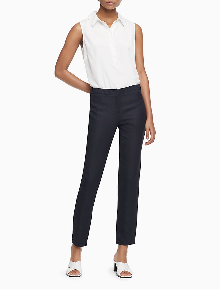 Calvin Klein Womens Navy Wear to Work Pants