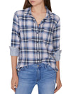 Sanctuary Womens Plaid Cotton Button-Down Top
