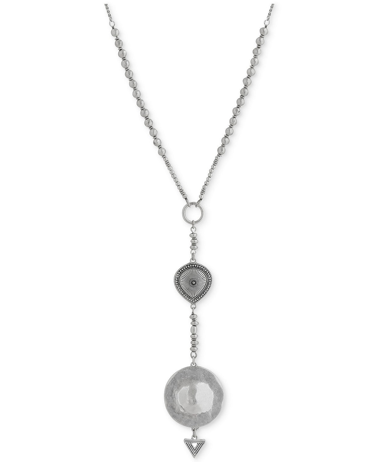 Lucky Brand Silver-Tone lariat necklace