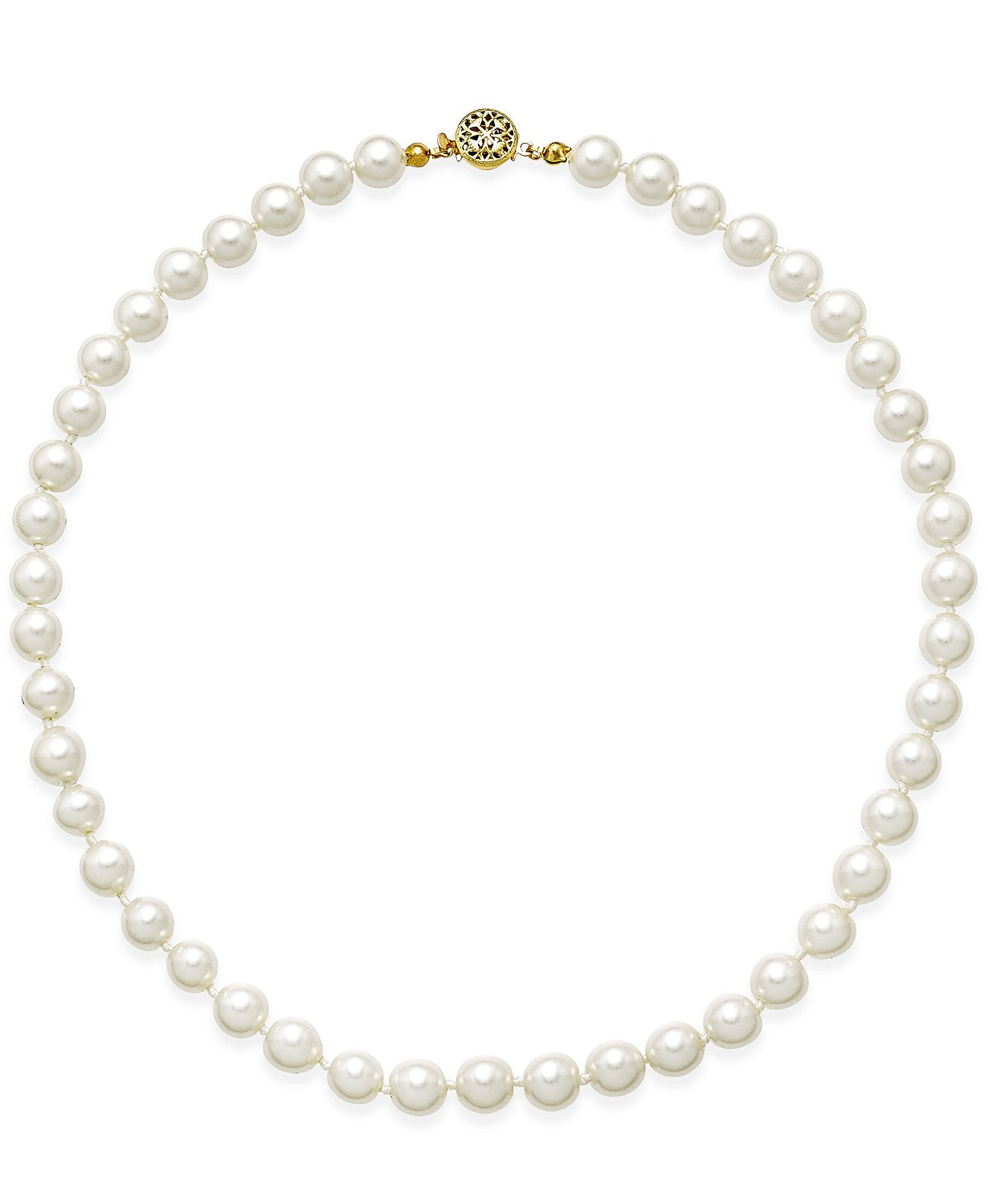 Charter Club Imitation Pearl (8mm) Strand Necklace, 24 + 2 Extender