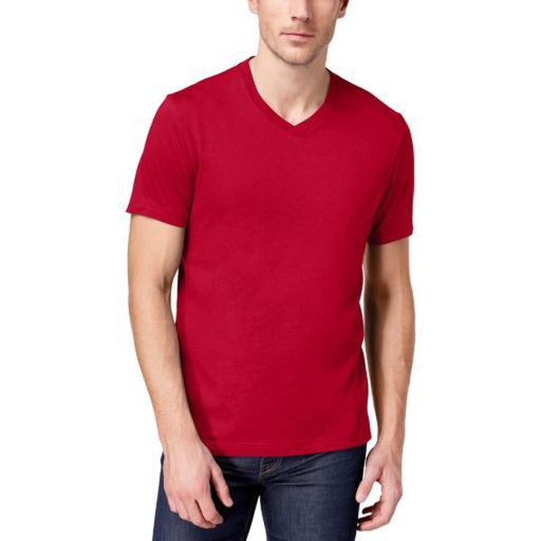 Club Room Mens Red Short Sleeve Performance