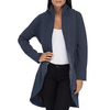 Bobeau Blue Peri Jacket With Quilted Collar