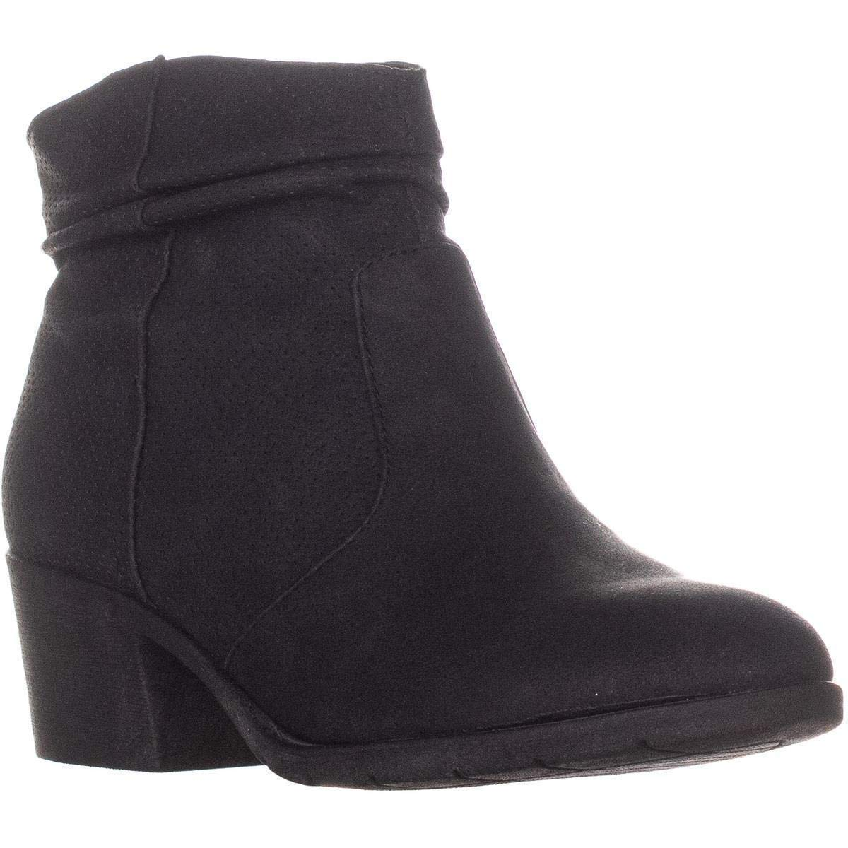 White Mountain Uptown Block-Heel Ankle Bootie