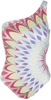 BAR III Starburst One Shoulder One Piece Bathing Suit